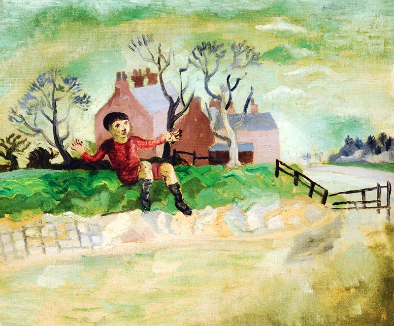 The Jumping Boy, Arundel, West Sussex (1929), Christopher Wood.