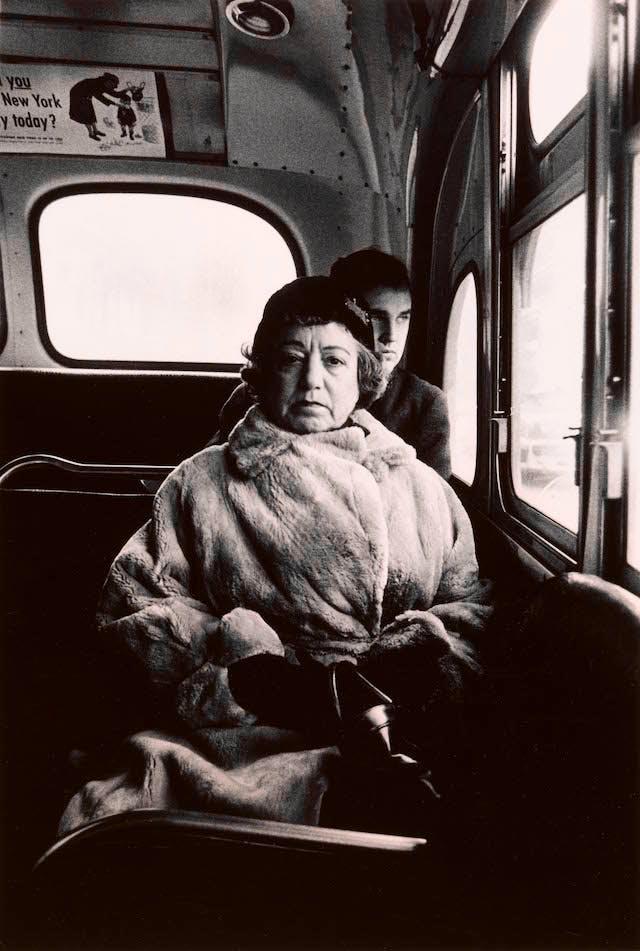 Lady on a bus, N.Y.C.