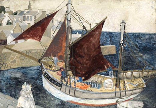 Boat in Harbour, Brittany (1929), Christopher Wood.