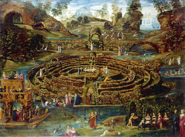Pozzoserrato,Pleasure Garden with a Maze
