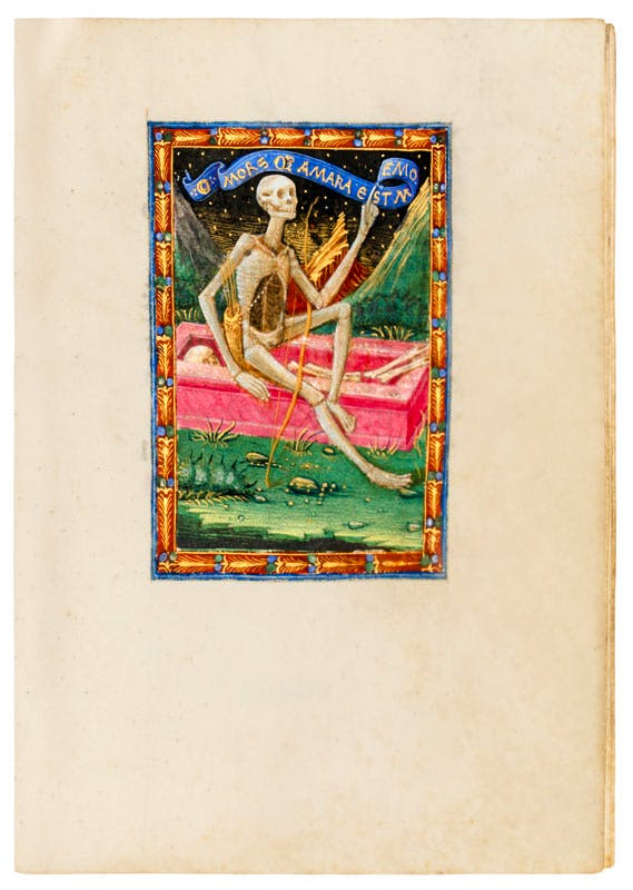 A page from a Book of Hours written by Francesco Borromeo in 1474, with illuminations by Ambrogio de Predis