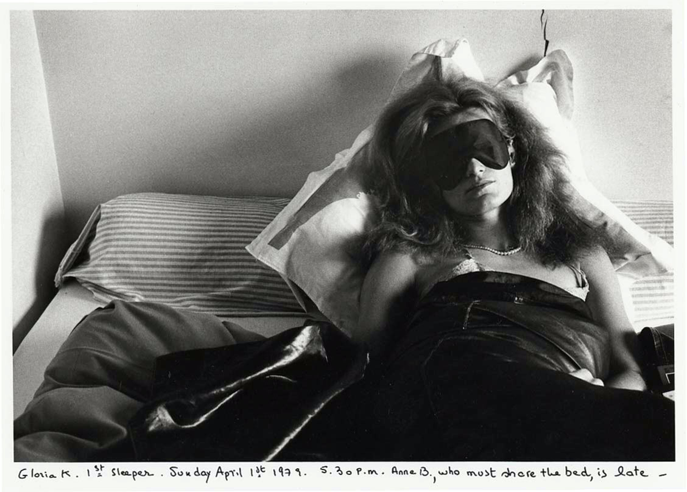 Gloria K., first sleeper. Anne B., second sleeper (1979), Sophie Calle