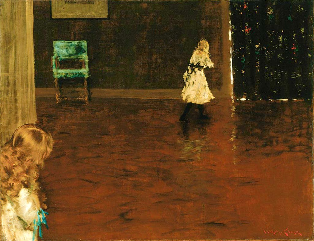 Hide and Seek (1888), William Merritt Chase.