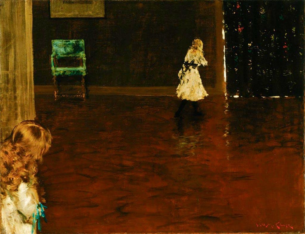 Hide and Seek (1888), William Merritt Chase.