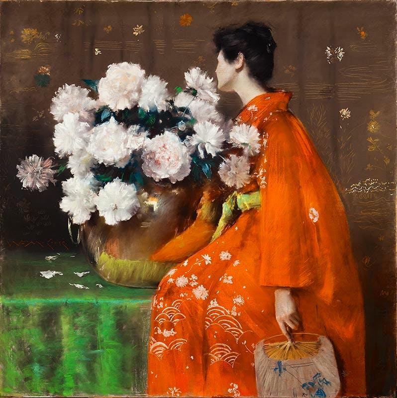 Spring Flowers (Peonies) (1889), William Merritt Chase.