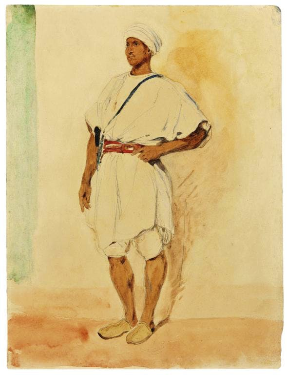 A Standing Moroccan Man (1832), Eugene Delacroix