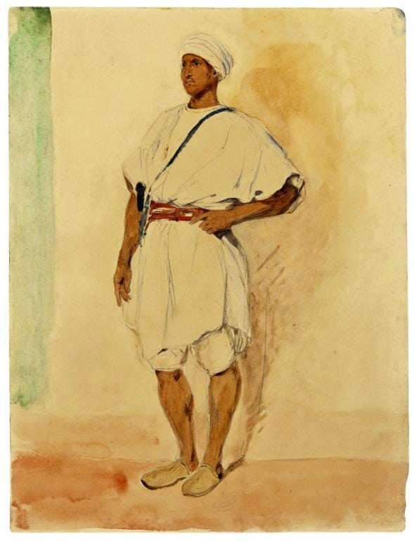 A Standing Moroccan Man (1832), Eugene Delacroix