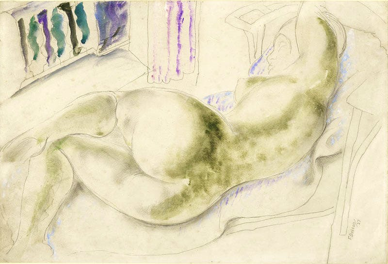 Reclining Nude with Mediterranean Window (1927), Frank Dobson