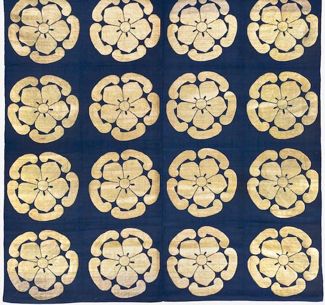 Buddhist altar cloth (uchishiki), early 19th century. Japan, late Edo period.