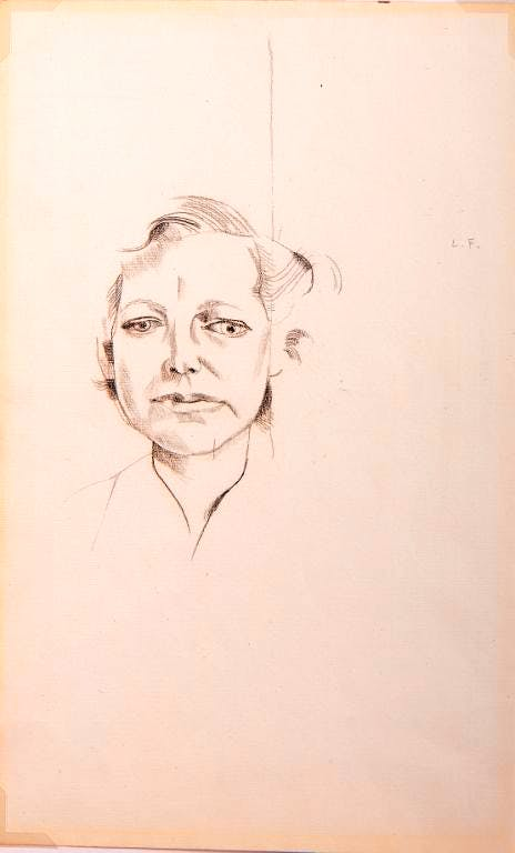 Portrait of Lady Anderson (c. 1952), Lucian Freud