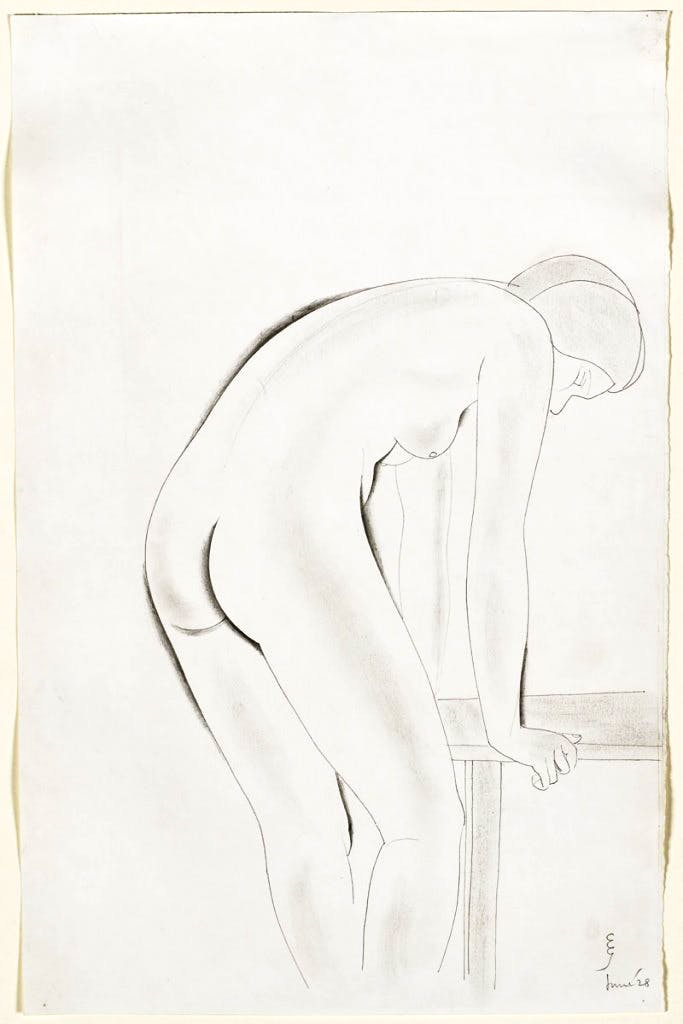 Standing nude (1928), Eric Gill