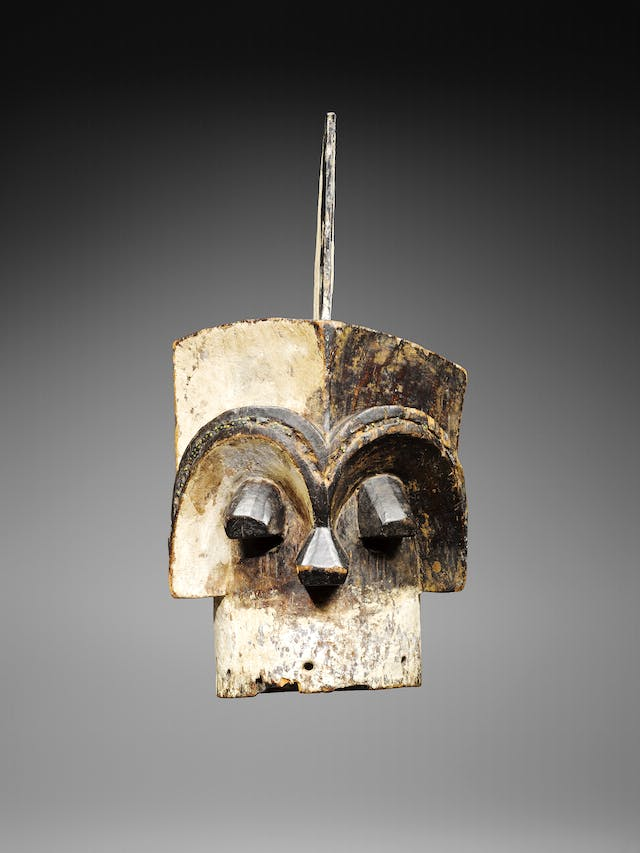 Helmet mast (emboli or m'boli), c. 1880, Kota, Gabon.