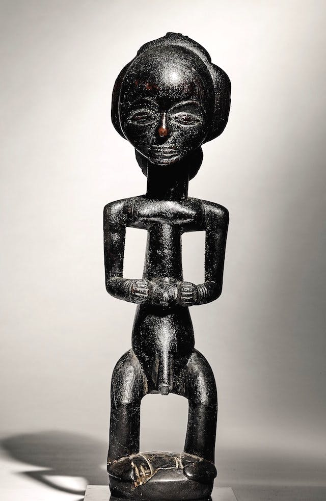 Male statue, the Warua Master, Luba, Democratic Republic of Congo