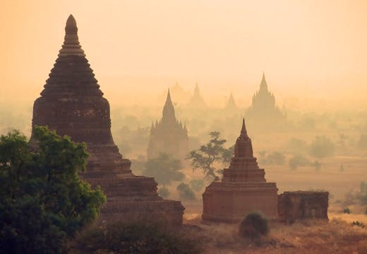 The ruins of Bagan, Burma. The ancient site is at risk of ruin due to poor attempts at restoration.