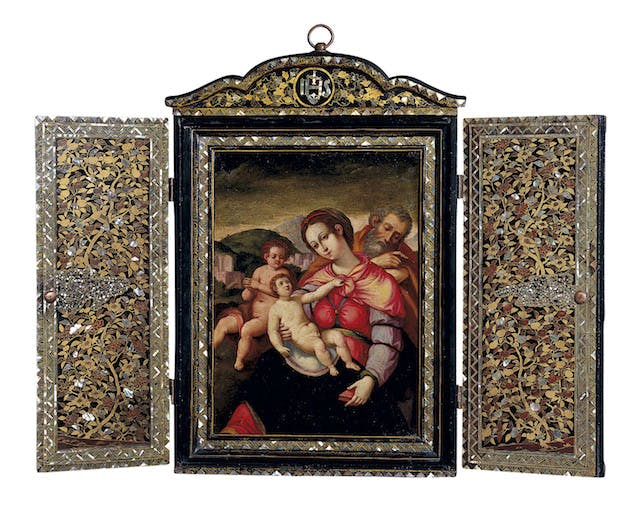 Shrine with a painting of Holy Family with John the Baptist