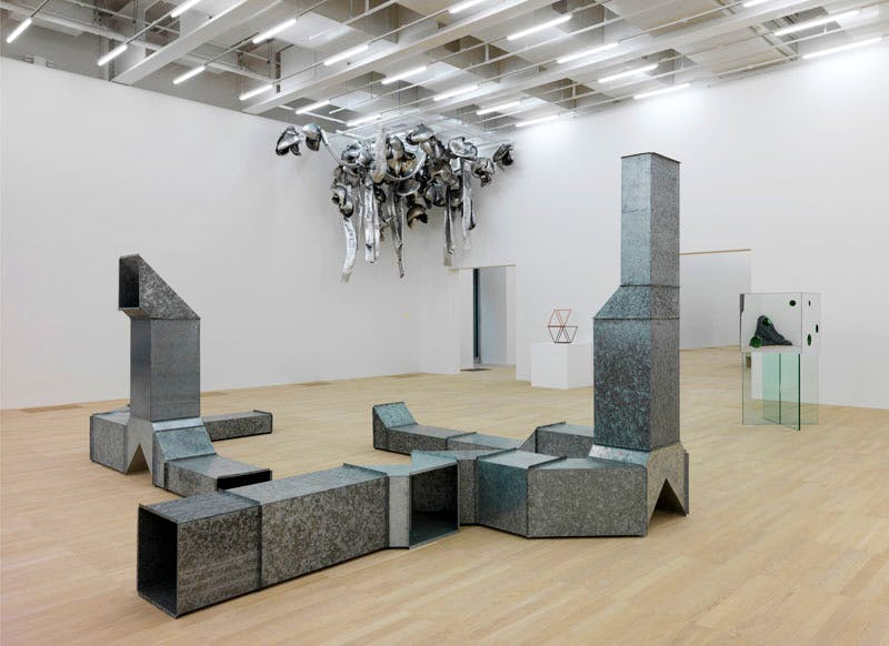 Installation view of 'Between Object and Architecture' in Tate Modern's new Swith House extension. Photo courtesy Tate Photography