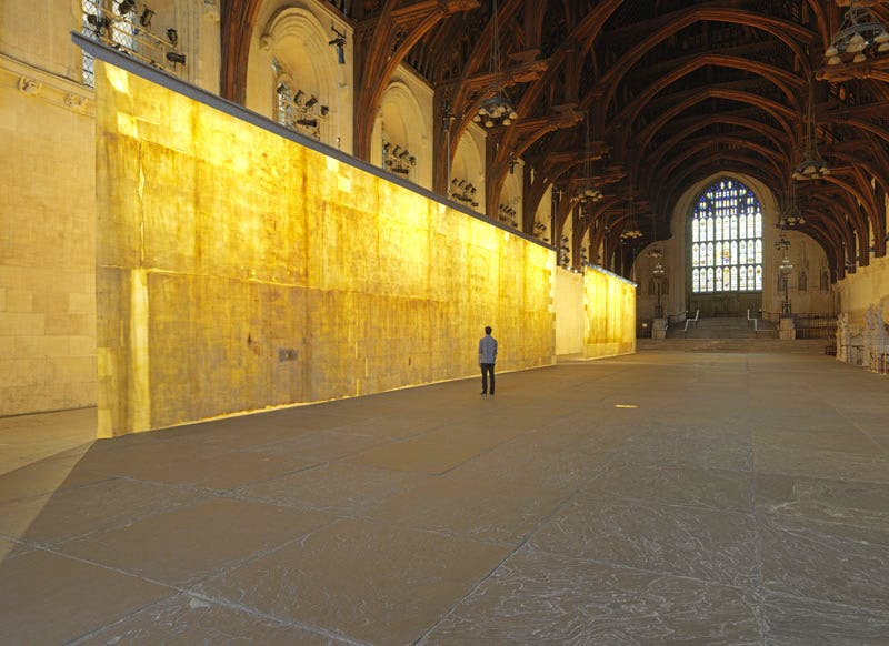 The Ethics of Dust at Westminster Hall (2016), Jorge Otero-Pailos.