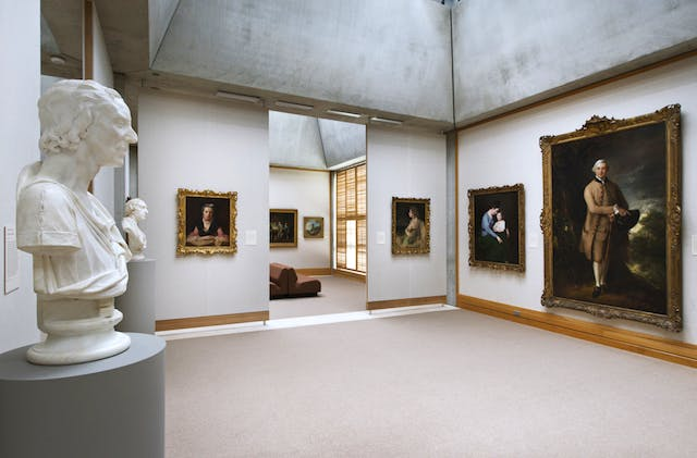 The newly reinstalled fourth floor galleries at the Yale Center of British Art juxtaposes busts and portraits from the same period