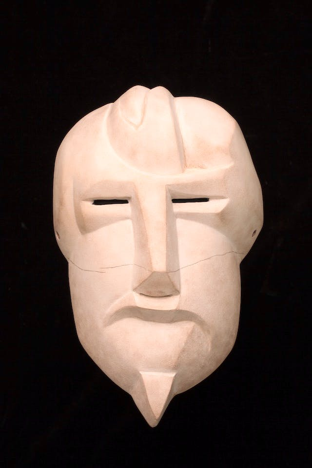 At Twilight / Mask of Ezra Pound (After Henri Gaudier-Brzeska)