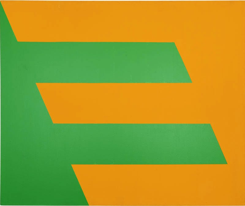 (1958), Carmen Herrera, Green and Orange.