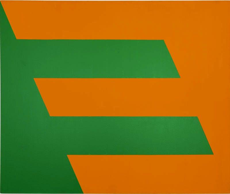 (1958), Carmen Herrera, Green and Orange.
