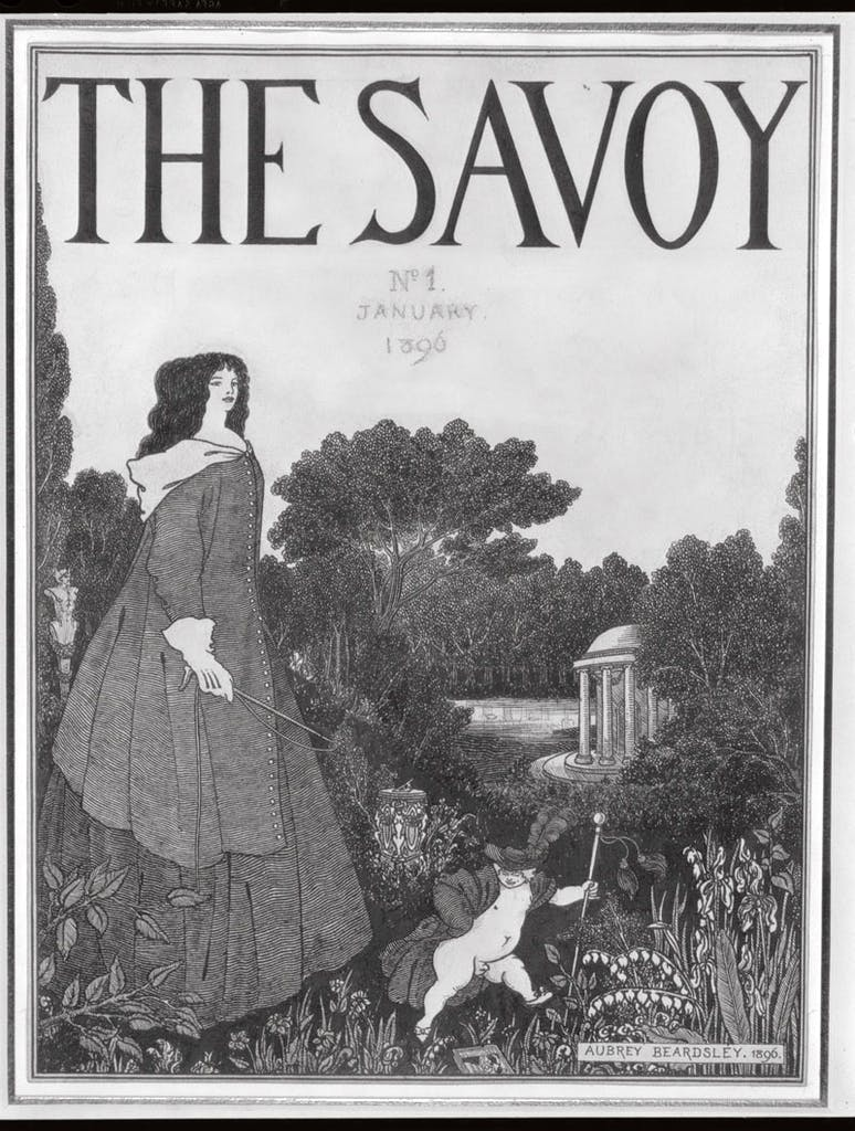Cover for issue one of The Savoy (1895), Aubrey Beardsley.