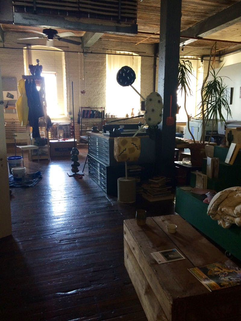 Artist studios at the High Tide gallery, Philadelphia