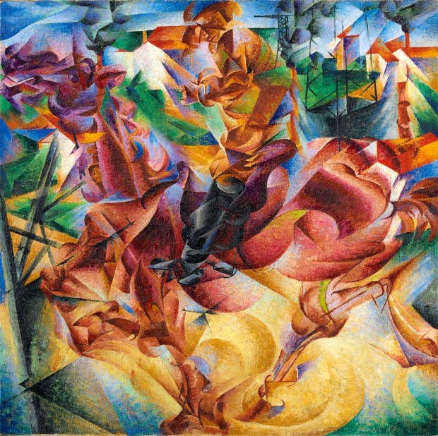 Paintings modern abstract Boccioni dynamism Picture Modern Abstract Print on Canvas