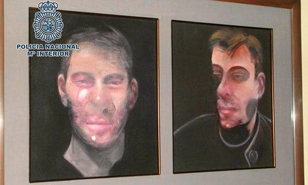 Spanish police arrested seven people in connection with the theft of five Francis Bacon paintings earlier this year
