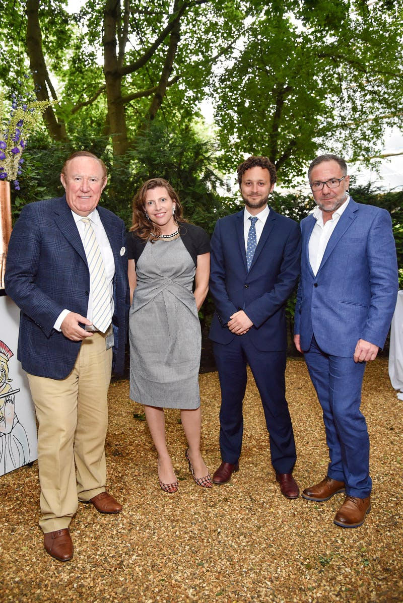 Andrew Neil, Helen Macintyre, Thomas Marks and Paul Ress at the Apollo summer party 2016
