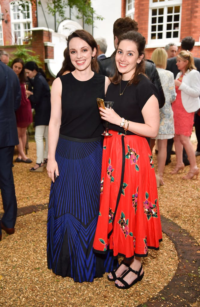 Maggie Gray and Lucy Rogers-Coltman at the Apollo summer party 2016