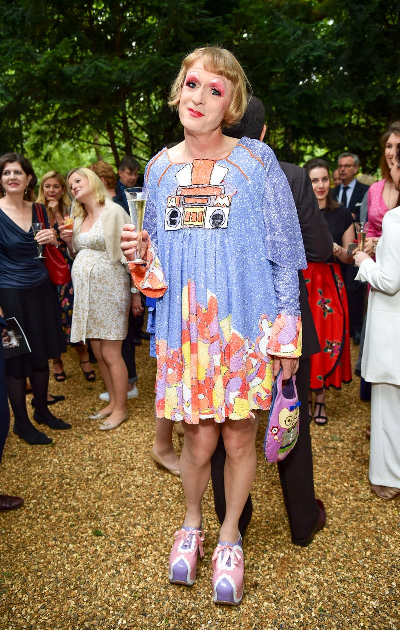 Grayson Perry at the Apollo summer party 2016