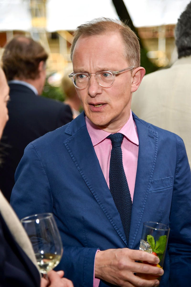 Simon Thurley at the Apollo summer party 2016