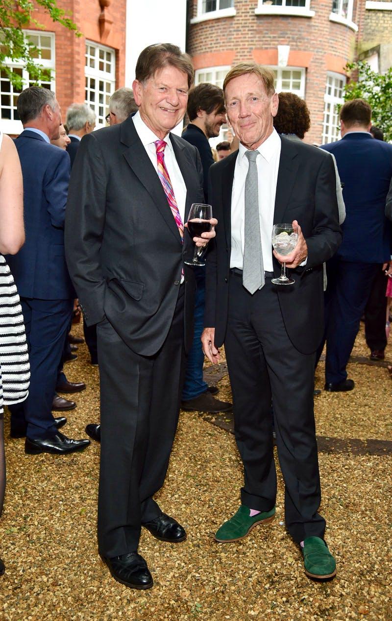John Madejski and Edmund Capon at the Apollo summer party 2016