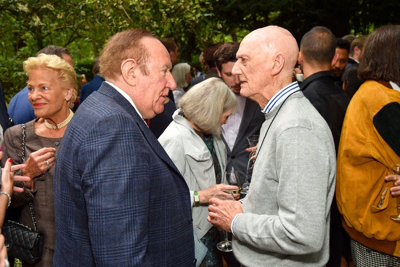 Andrew Neil and Allen Jones at the Apollo summer party 2016.