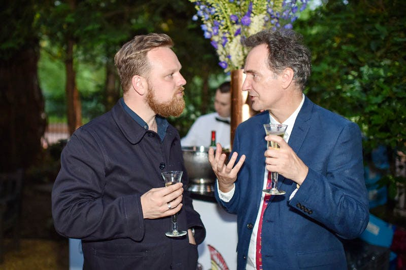 Simon Martin and Andy Ellis at the Apollo summer party 2016.