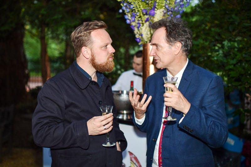 Simon Martin and Andy Ellis at the Apollo summer party 2016.