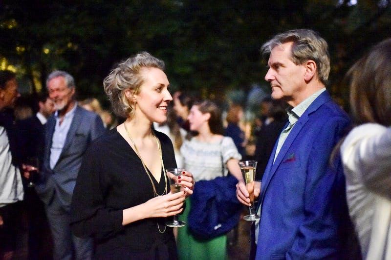 Imelda Barnard and David Adshead at the Apollo summer party 2016