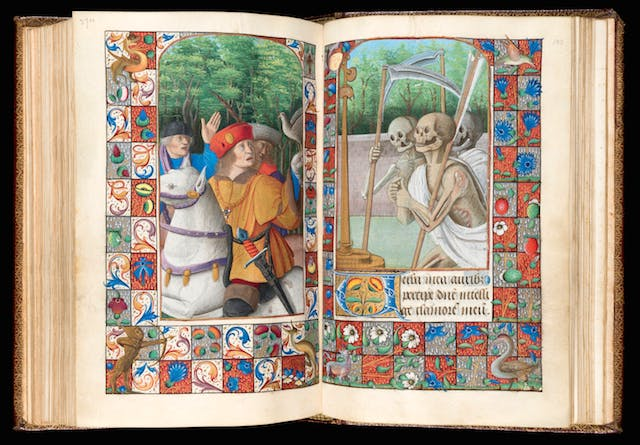 Book of Hours, Use of Rome, The Three Living and the Three Dead