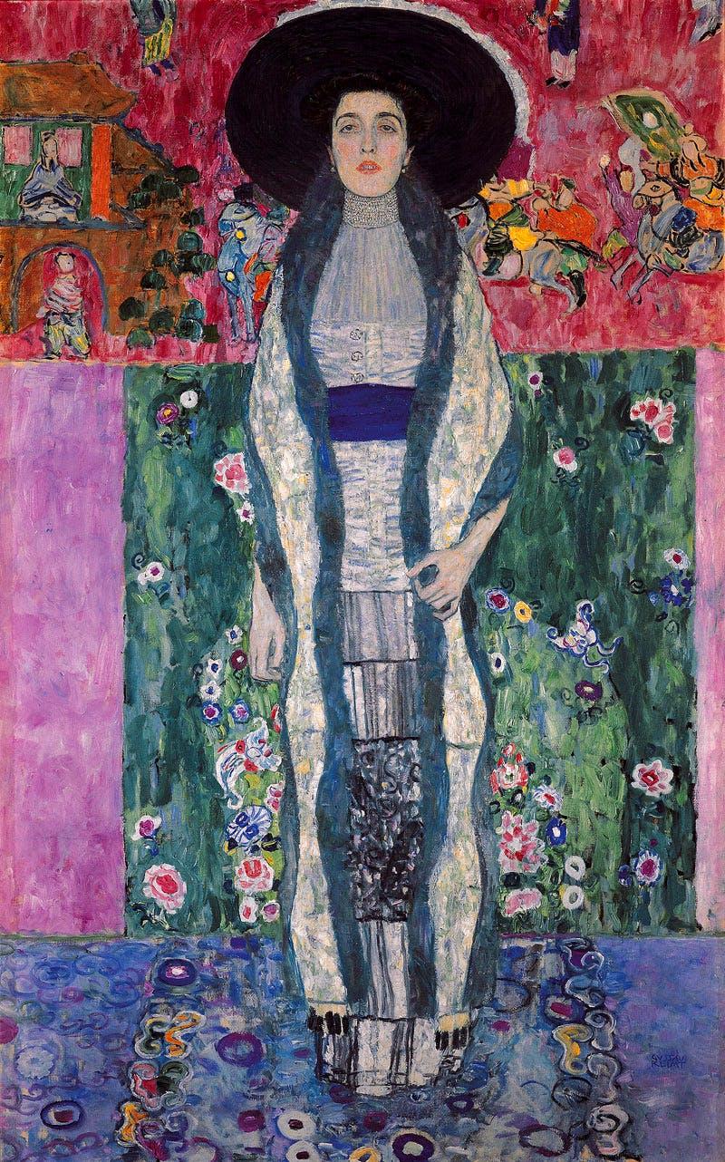 (1912), Gustav Klimt, Portrait of Adele Bloch-Bauer II.