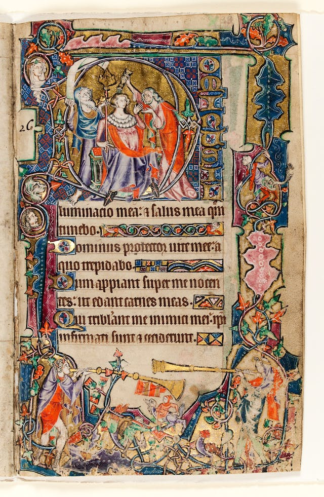 The Macclesfield Psalter, The Anointing of David