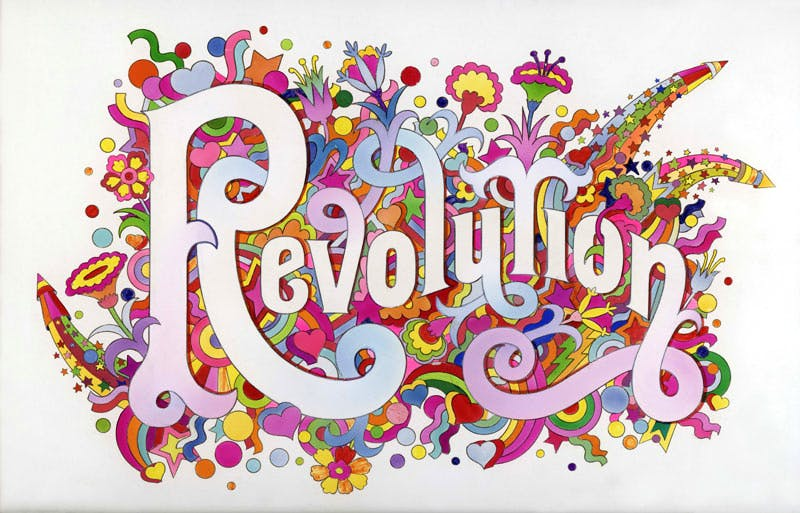 The Beatles Illustrated Lyrics, 'Revolution' (1968), Alan Aldridge.