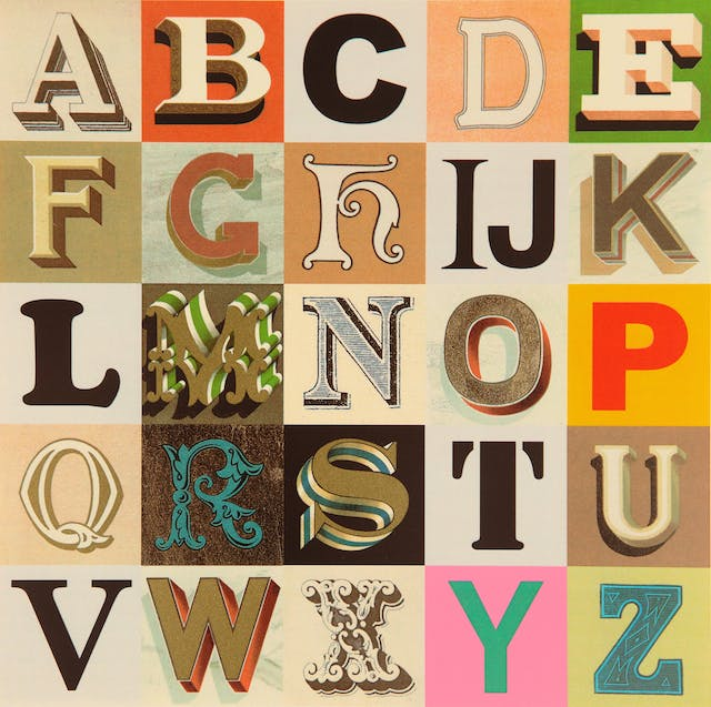 Appropriated Alphabet no.7