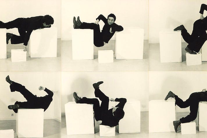 Pose Work for Plinths 3 (detail; 1971), Bruce McClean.