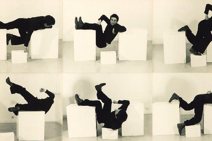 Pose Work for Plinths 3 (detail; 1971), Bruce McClean.