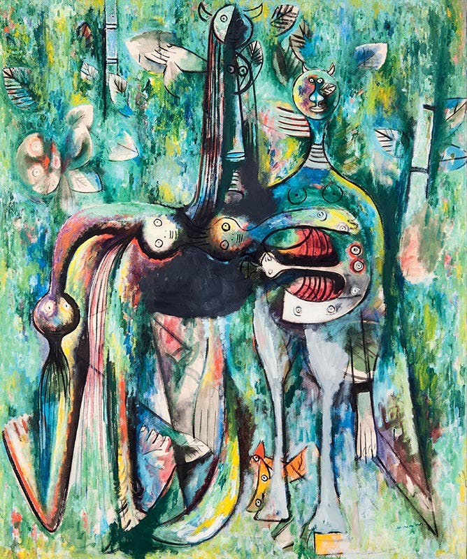 The Sombre Malembo, God of the Crossroads, (1943), Wifredo Lam