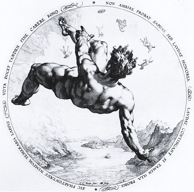 The four falling Disgracers Phaethon