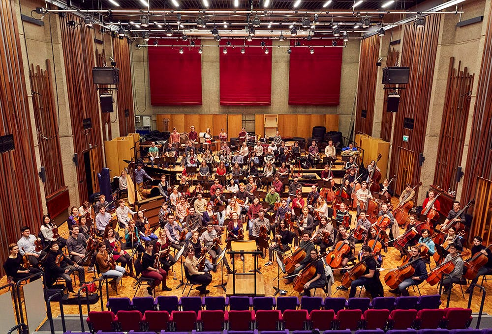 Guildhall Symphony Orchestra demonstrated the potential impact of Brexit by releasing two photographs: the first with their EU students, the second without.