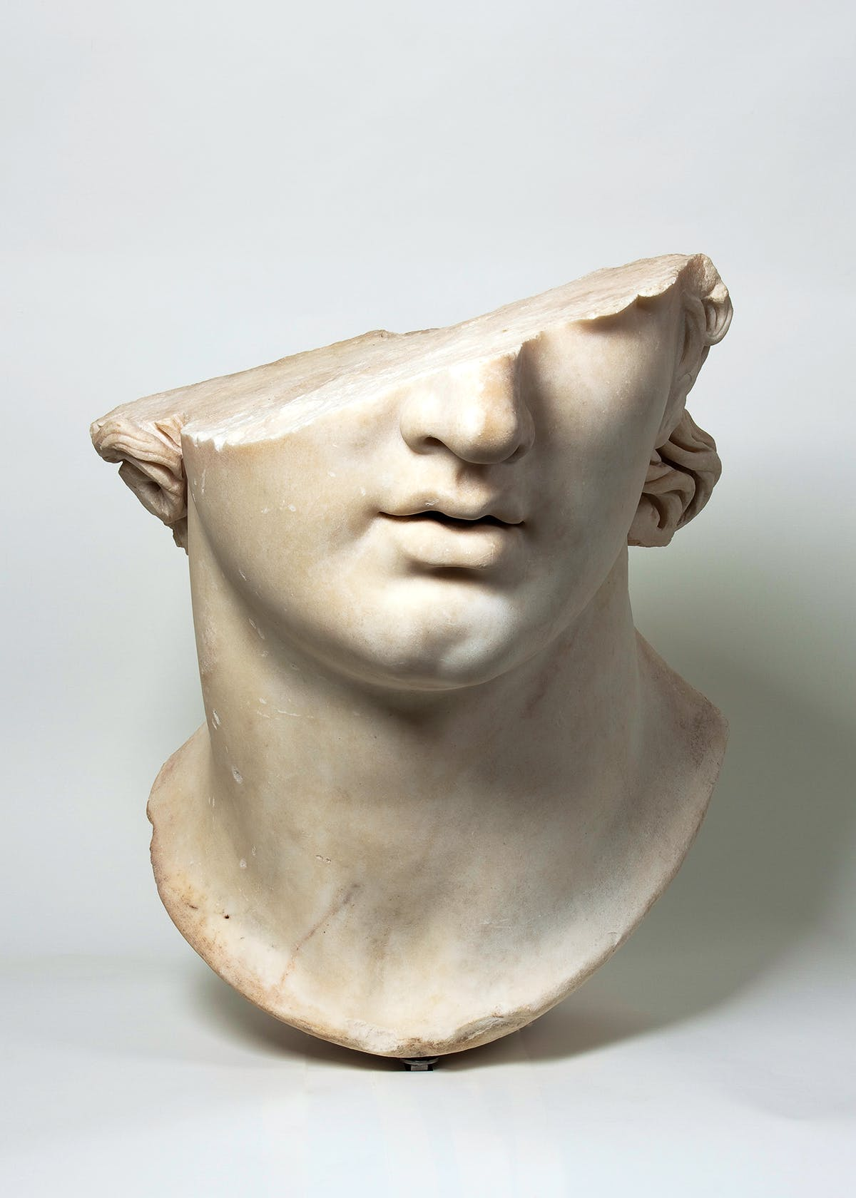 Fragmentary Colossal Head of a Youth, from the gymnasion at Pergamon.