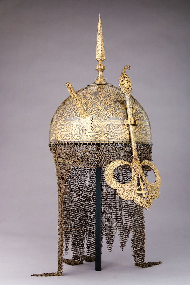 Helmet (17th century), India.